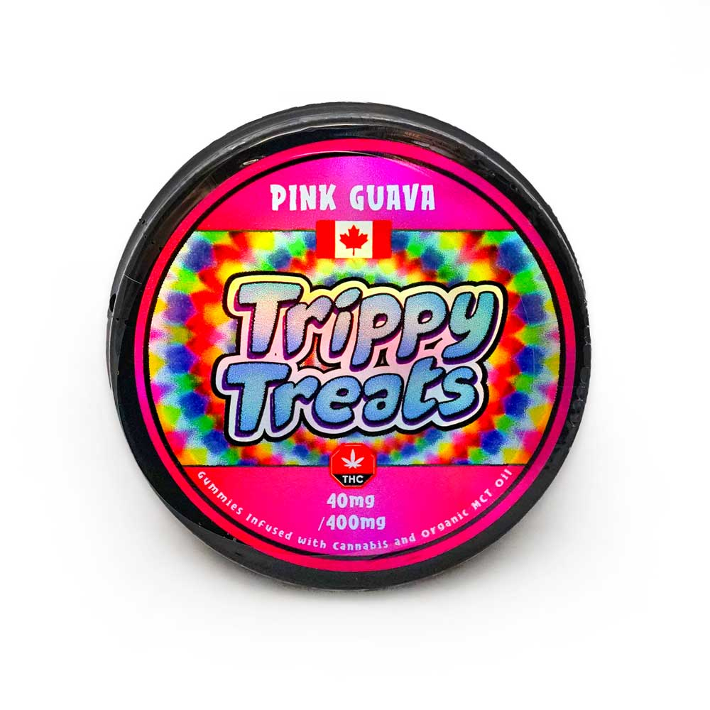 Trippy Treats Pink Guava 400mg THC Gummies