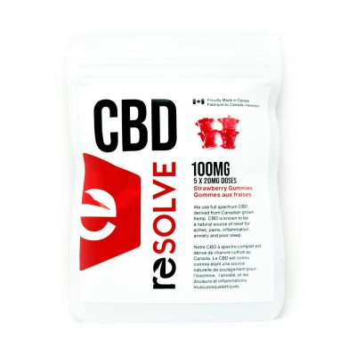 Resolve CBD Strawberry Gummies | Buy CBD Gummies in Canada at Weed-Deals