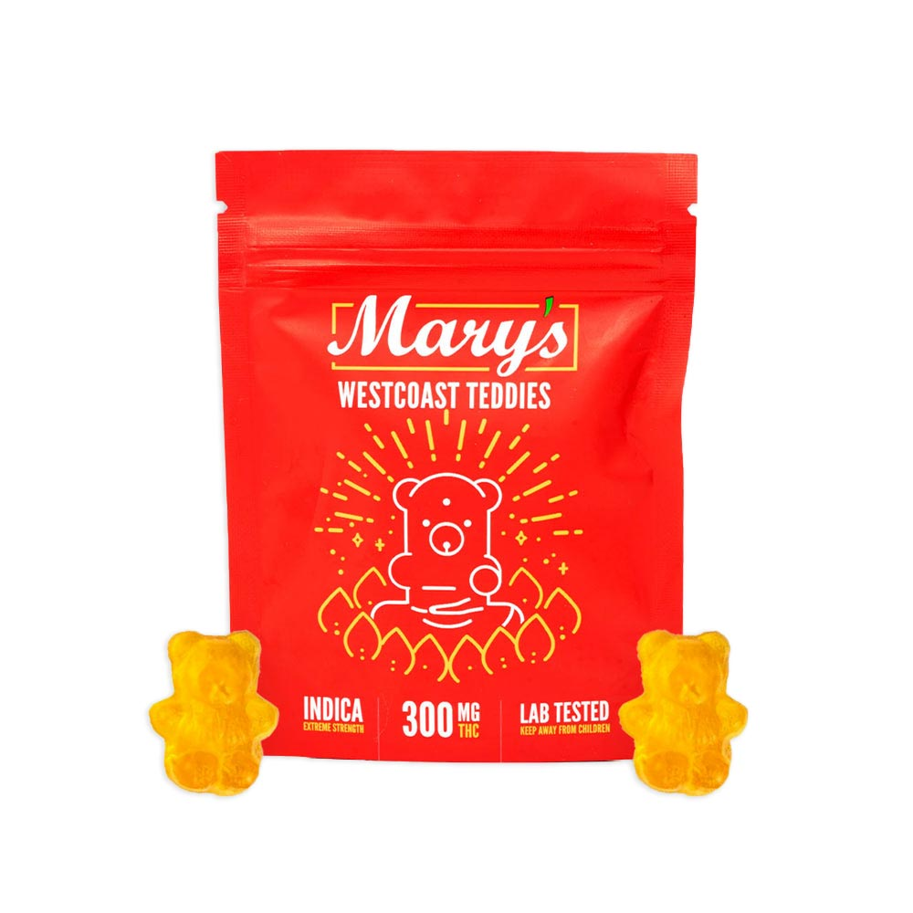 Mary's-West-Coast-Teddies-Extreme-Strength-300mg-THC-gummies