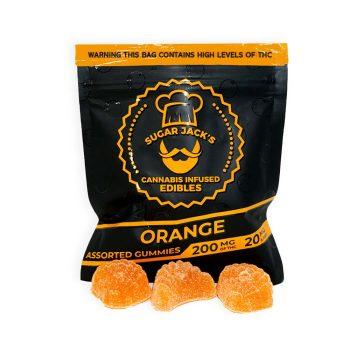 Sugar-Jack's-200mg-THC-Orange-Gummies