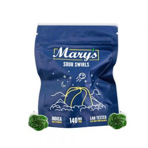 Mary's Edibles   Buy Indica Sour Swirls 140mg THC