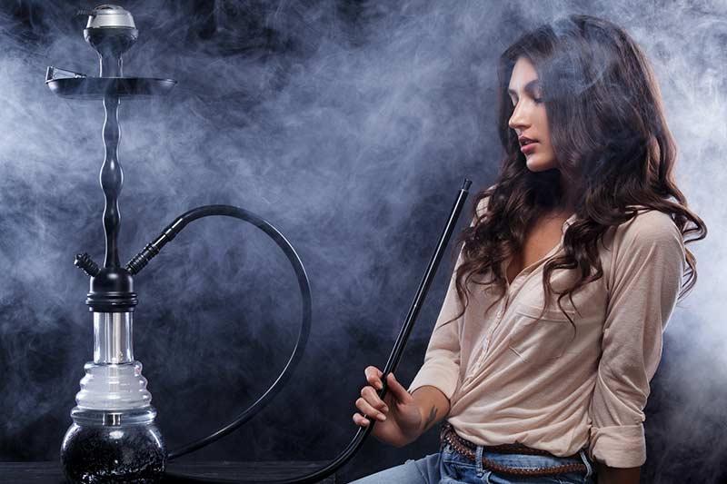 smoke hash in a hookah