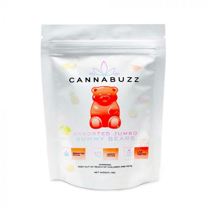 Cannabuzz Assorted Jumbo 1000mg THC Gummy Bears