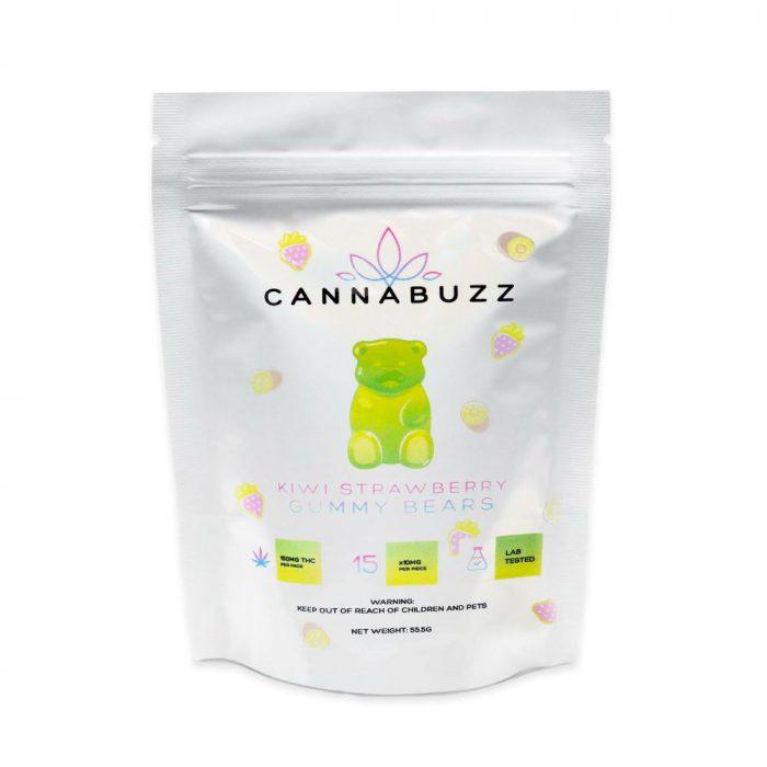 Cannabuzz Kiwi Strawberry 150mg THC Gummy Bears