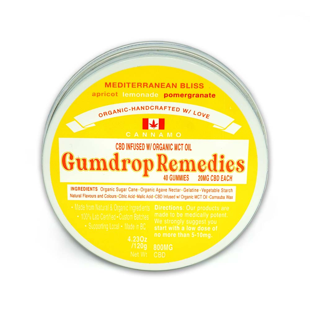 Mediterranean Bliss Cannamo Gumdrop Remedies 800mg CBD