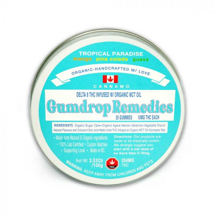 Tropical Paradise 250mg THC Cannamo Gumdrop Remedies
