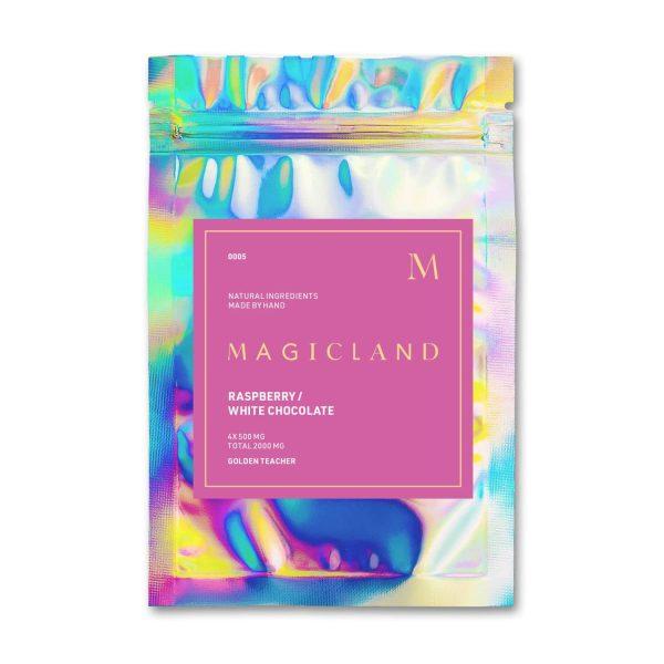 Magicland Raspberry Mushroom White Chocolate Golden Teacher