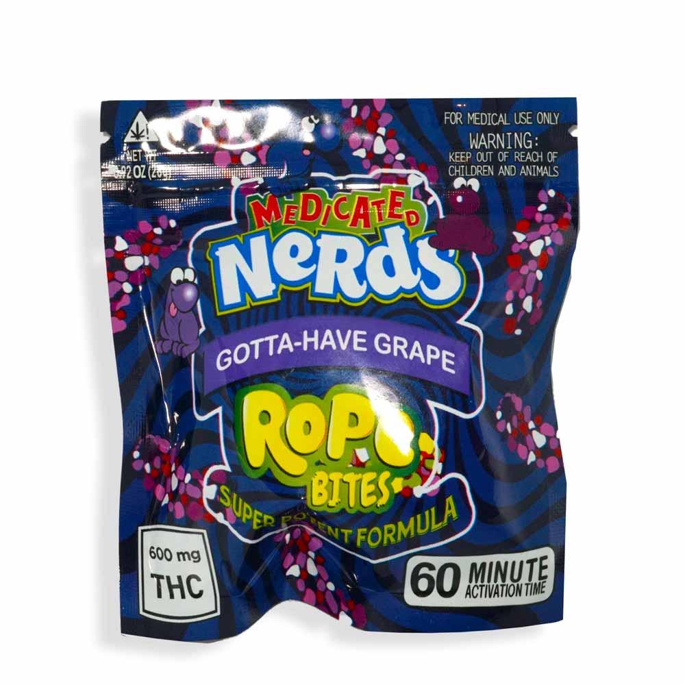Grape Nerds Rope Bites 600mg THC