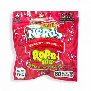 Seriously Strawberry THC Nerds Rope Bites