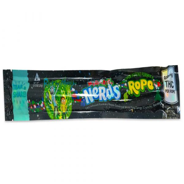 Rick and Morty THC 600mg Nerds Rope   Weed Deals