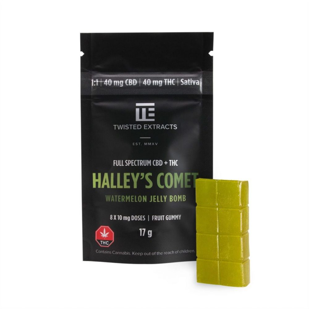 Twisted Extracts Halley's Comet THC & CBD Jelly Bomb | Weed Deals