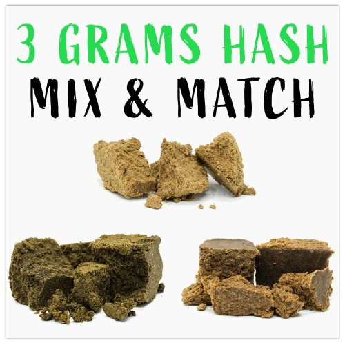 3 grams of hash mix & match