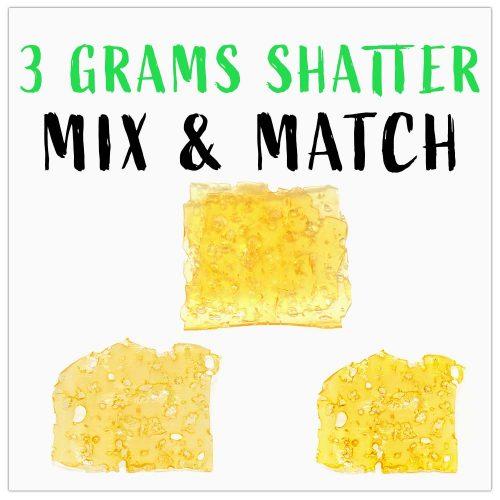 3 grams shatter mix & match