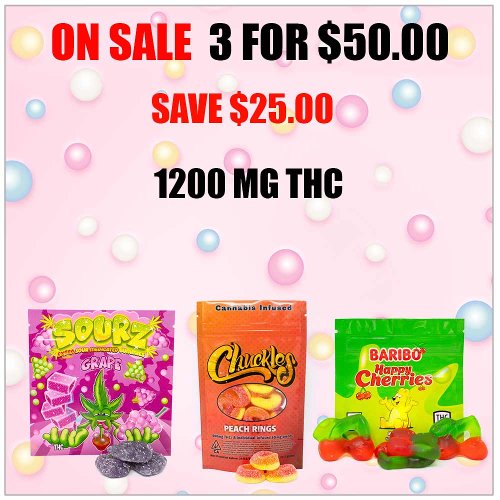 3 for 50 edibles deal