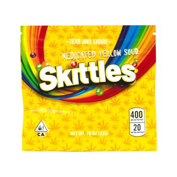 Medicated-Yellow-Sour-Skittles-400mg-THC